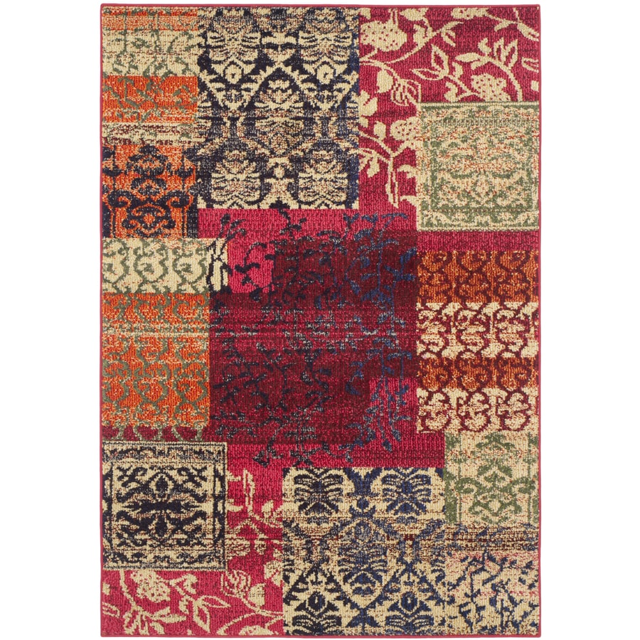 Safavieh Monaco Multi Rectangular Indoor Machine-Made Distressed Area Rug (Common: 4 x 6; Actual: 4-ft W x 5.583-ft L)