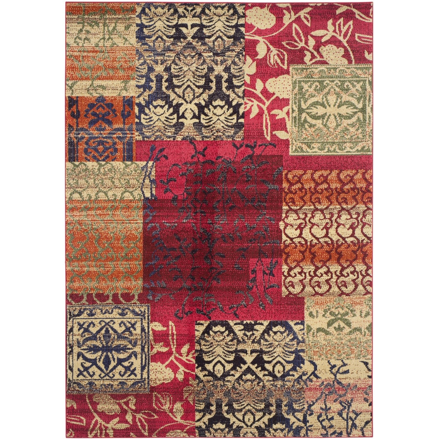 Safavieh Monaco Vanessa Multi Rectangular Indoor Machine-made Lodge Area Rug (Common: 6 x 9; Actual: 6.6-ft W x 9.2-ft L)