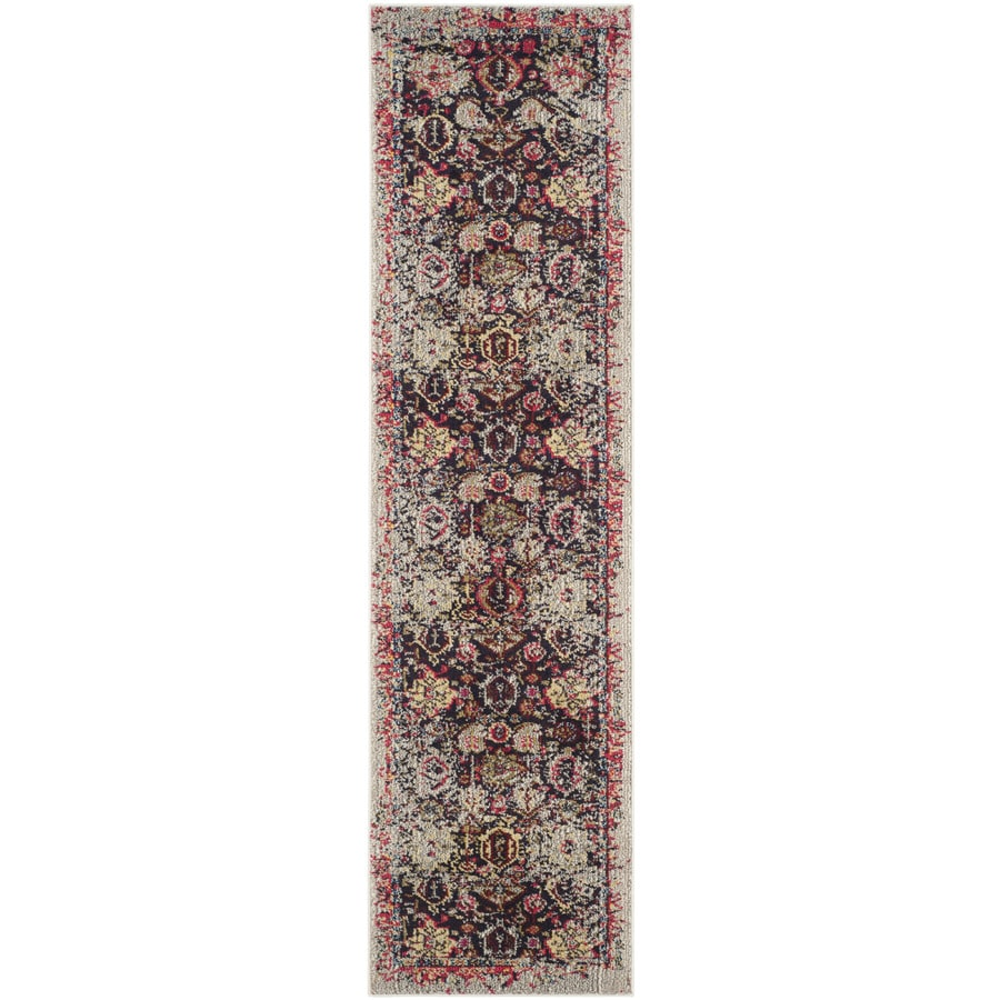 Safavieh Monaco Babette Gray Indoor Distressed Runner (Common: 2 x 8; Actual: 2.2-ft W x 8-ft L)