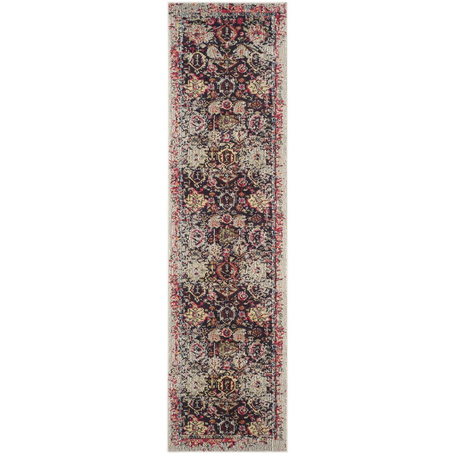 Safavieh Monaco Babette Gray/Multi Rectangular Indoor Machine-made Distressed Runner (Common: 2 x 8; Actual: 2.2-ft W x 8-ft L)
