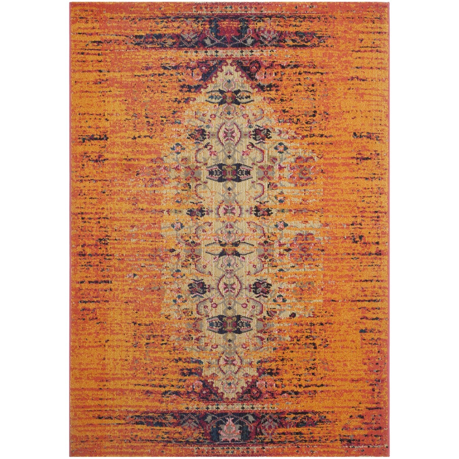Safavieh Monaco Orange/Multi Rectangular Indoor Machine-Made Area Rug (Common: 5 x 7; Actual: W x L x 0-ft Dia)