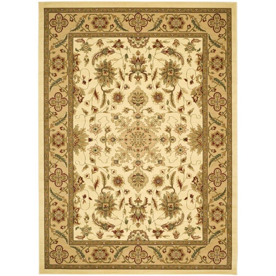 Safavieh Lyndhurst Mashad Ivory/Tan Rectangular Indoor Machine-made Oriental Throw Rug (Common: 3 x 5; Actual: 3.25-ft W x 5.25-ft L)