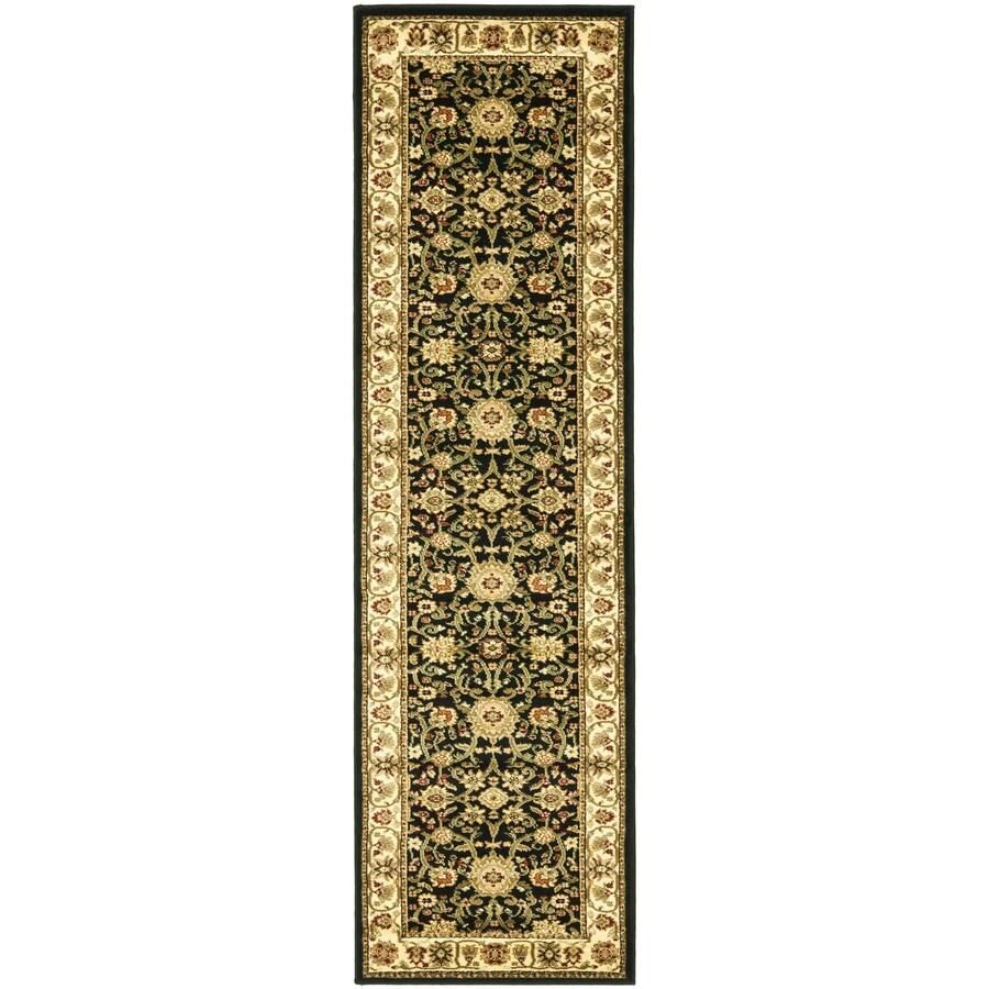 Safavieh Lyndhurst Sarouk Black/Ivory Indoor Oriental Runner (Common: 2 x 12; Actual: 2.25-ft W x 12-ft L)