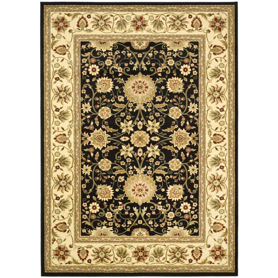 Safavieh Lyndhurst Sarouk Black/Ivory Indoor Oriental Throw Rug (Common: 3 x 5; Actual: 3.25-ft W x 5.25-ft L)