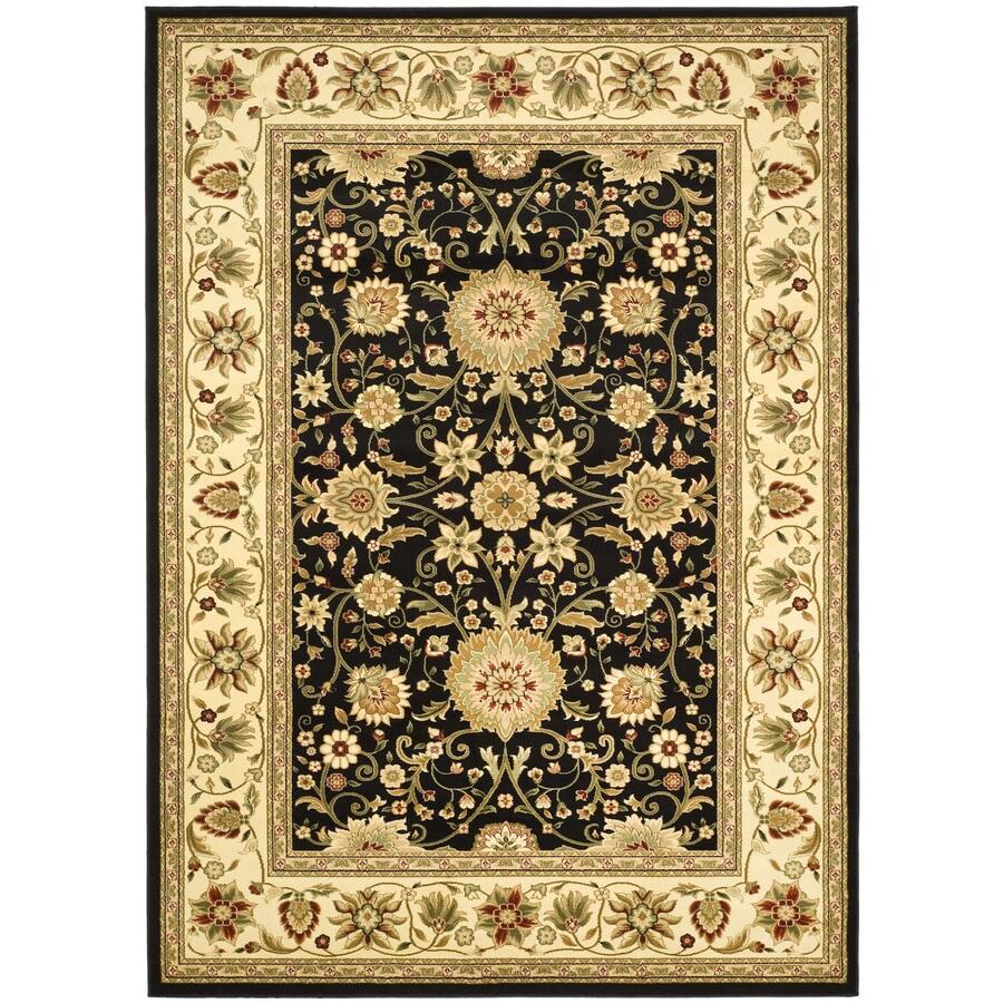 Safavieh Lyndhurst Sarouk Black/Ivory Indoor Oriental Area Rug (Common: 8 x 11; Actual: 8-ft W x 11-ft L)