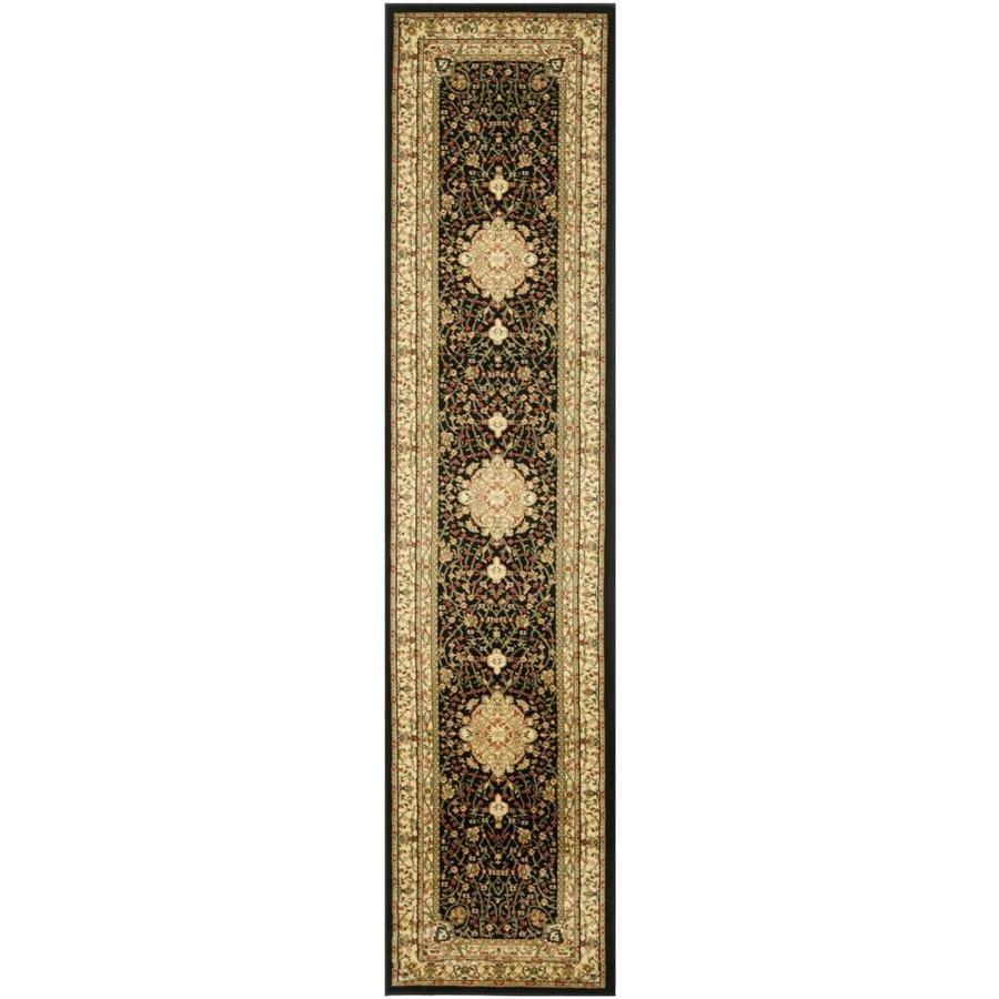 Safavieh Lyndhurst Tabriz Black/Ivory Indoor Oriental Runner (Common: 2 x 12; Actual: 2.25-ft W x 12-ft L)