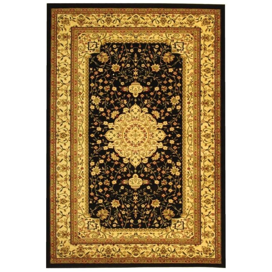 Safavieh Lyndhurst Tabriz Black/Ivory Indoor Oriental Throw Rug (Common: 3 x 5; Actual: 3.25-ft W x 5.25-ft L)
