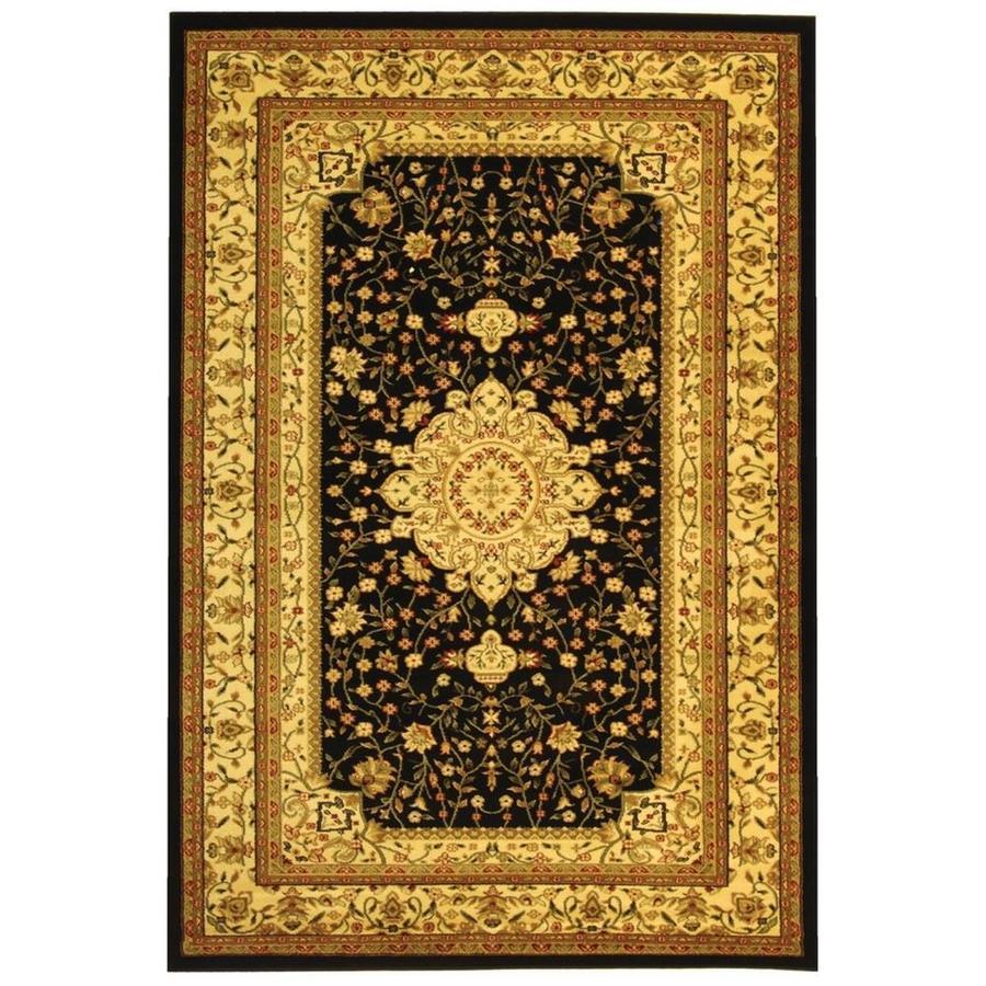 Safavieh Lyndhurst Tabriz Black/Ivory Rectangular Indoor Machine-made Oriental Area Rug (Common: 5 x 7; Actual: 5.25-ft W x 7.5-ft L)