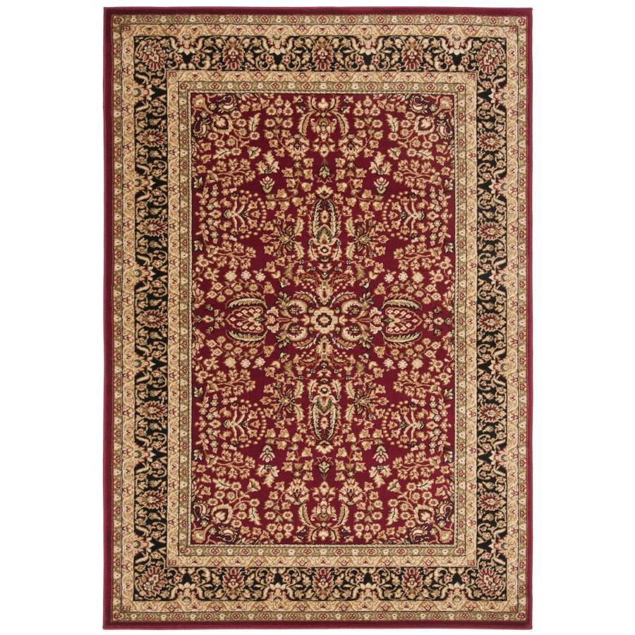 Safavieh Lyndhurst Isphahan Red/Black Rectangular Indoor Machine-made Oriental Area Rug (Common: 5 x 7; Actual: 5.25-ft W x 7.5-ft L)