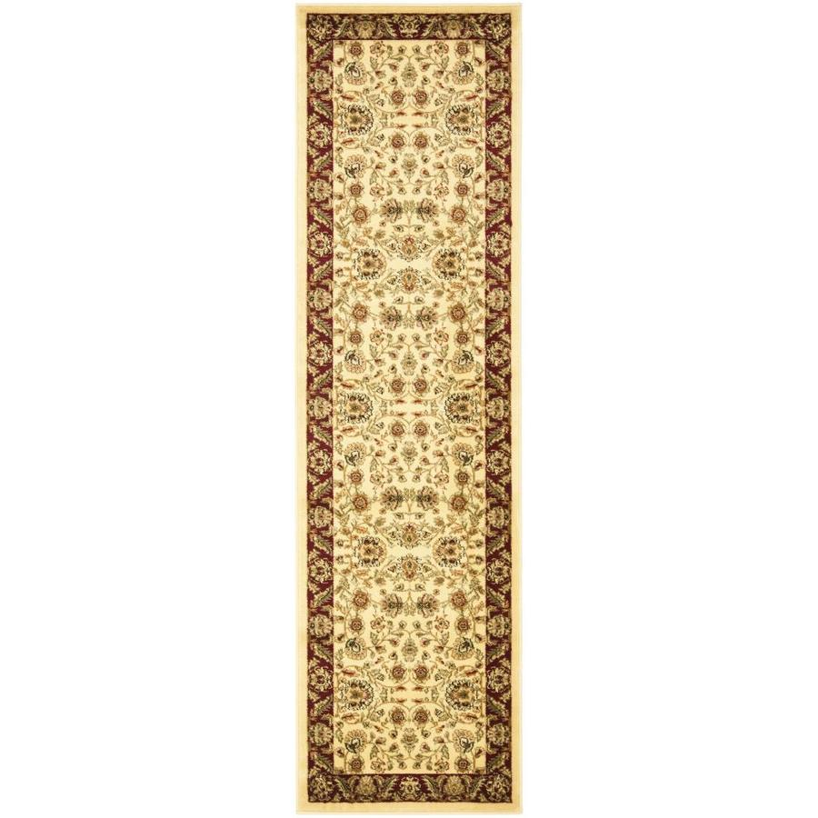 Safavieh Lyndhurst Andre Ivory/Red Indoor Oriental Runner (Common: 2 x 8; Actual: 2.25-ft W x 8-ft L)