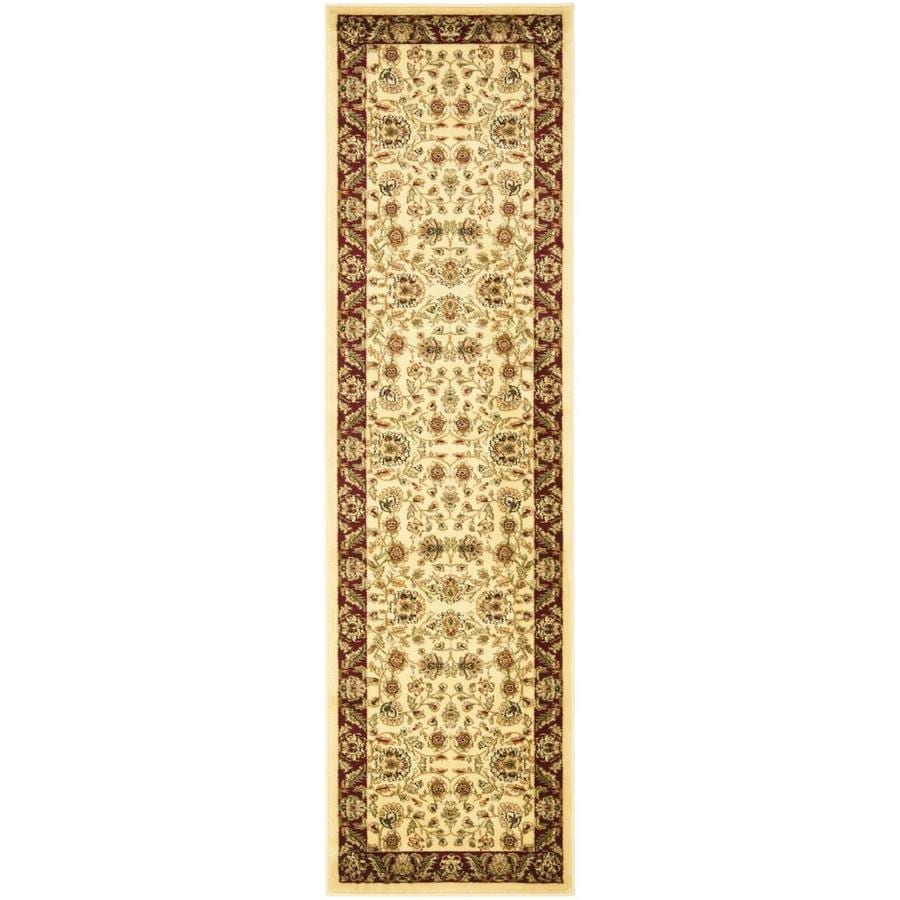Safavieh Lyndhurst Andre Ivory/Red Rectangular Indoor Machine-made Oriental Runner (Common: 2 x 8; Actual: 2.25-ft W x 8-ft L)