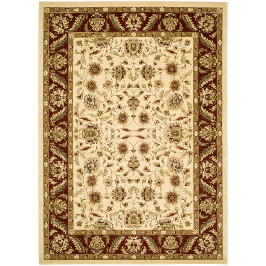 Safavieh Lyndhurst Ivory and Red Rectangular Indoor Machine-Made Throw Rug (Common: 3 x 5; Actual: 39-in W x 63-in L x 0.42-ft Dia)