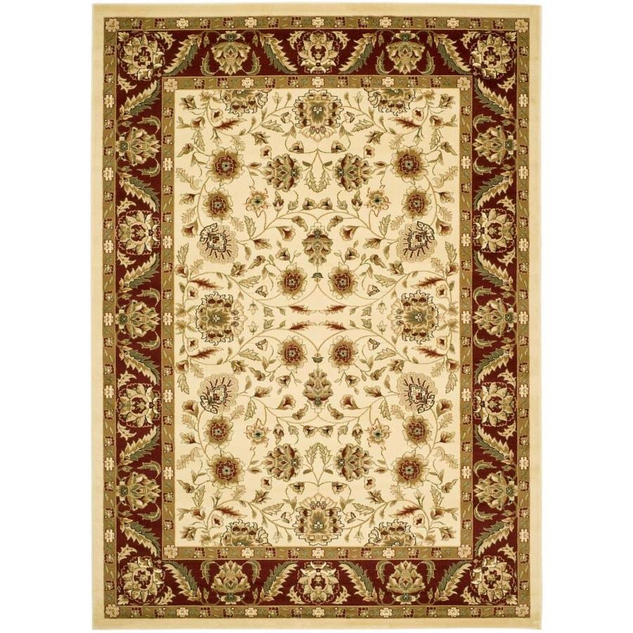 Safavieh Lyndhurst Andre Ivory/Red Indoor Oriental Area Rug (Common: 8 x 11; Actual: 8-ft W x 11-ft L)
