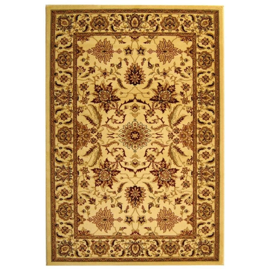 Safavieh Lyndhurst Agra Ivory/Ivory Rectangular Indoor Machine-made Oriental Area Rug (Common: 8 x 11; Actual: 8-ft W x 11-ft L)