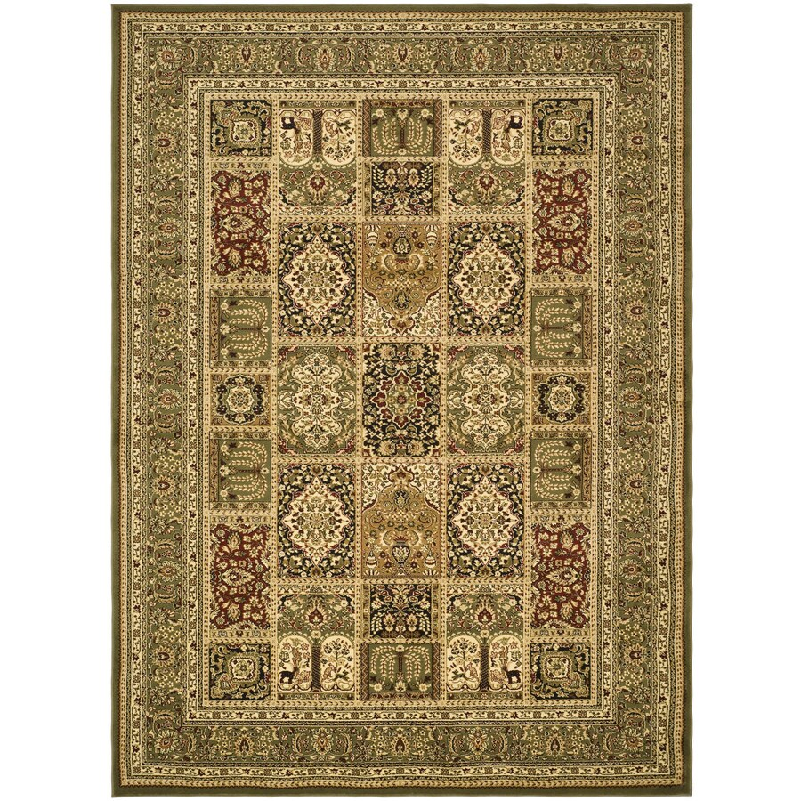 Safavieh Lyndhurst Multicolor and Green Rectangular Indoor Machine-Made Throw Rug (Common: 3 x 5; Actual: 39-in W x 63-in L x 0.42-ft Dia)