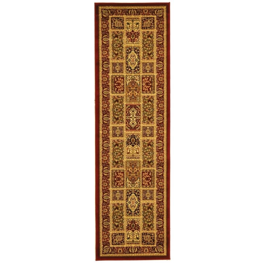 Safavieh Lyndhurst Bolero Multi/Red Rectangular Indoor Machine-made Oriental Runner (Common: 2 x 12; Actual: 2.25-ft W x 12-ft L)