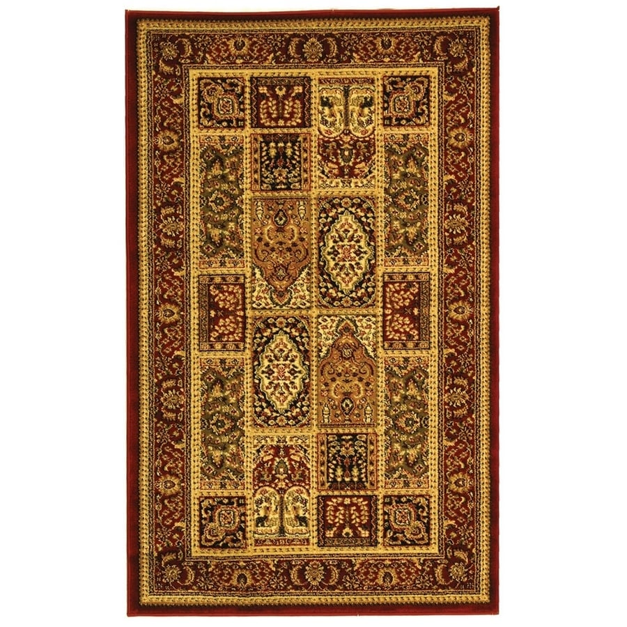 Safavieh Lyndhurst Bolero Red Indoor Oriental Throw Rug (Common: 3 x 5; Actual: 3.25-ft W x 5.25-ft L)