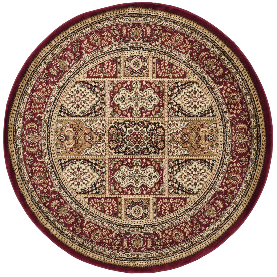 Safavieh Lyndhurst Bolero Multi/Red Round Indoor Machine-made Oriental Area Rug (Common: 5 x 5; Actual: 5.25-ft W x 5.25-ft L x 5.25-ft Dia)