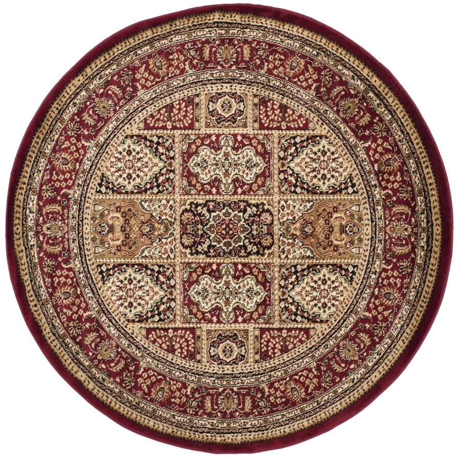 Safavieh Lyndhurst Bolero Red Round Indoor Oriental Area Rug (Common: 8 x 8; Actual: 8-ft W x 8-ft L x 8-ft dia)