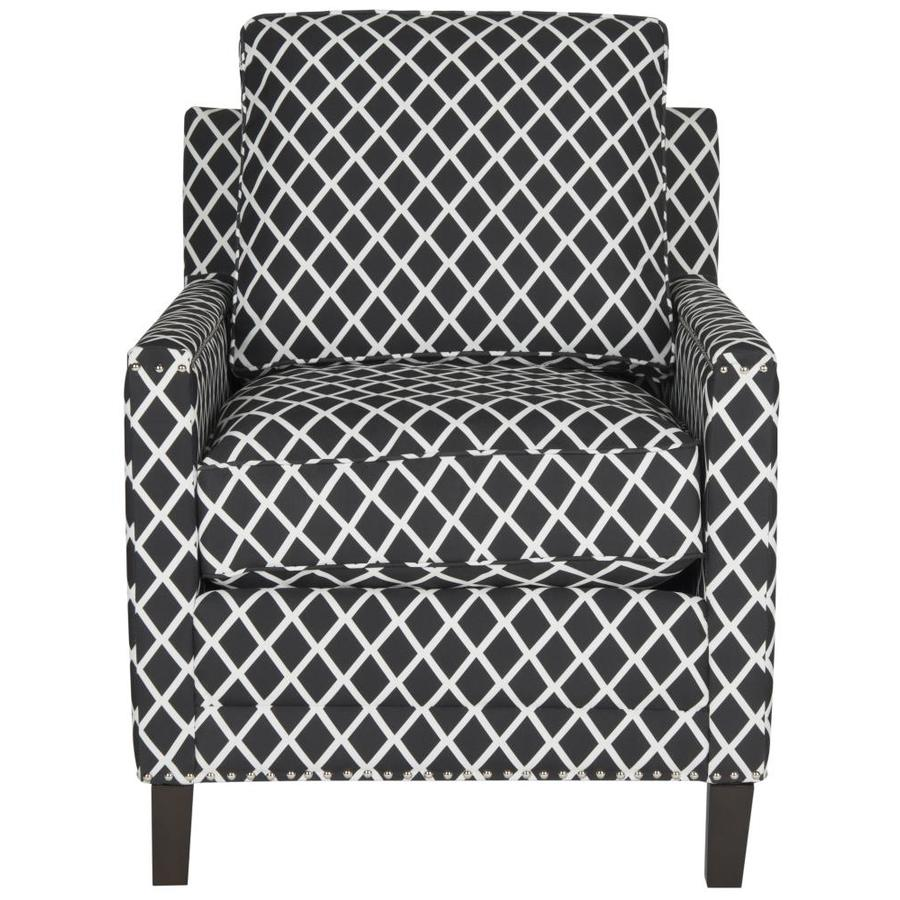 Safavieh Buckler Black/White Linen Accent Chair