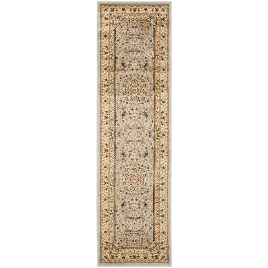 Safavieh Lyndhurst Tabriz Gray/Beige Rectangular Indoor Machine-made Oriental Runner (Common: 2 x 20; Actual: 2.25-ft W x 20-ft L)