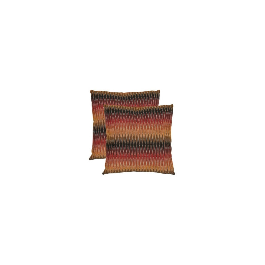 Safavieh 2-Piece 18-in W x 18-in L Brown Square Indoor Decorative Complete Pillows