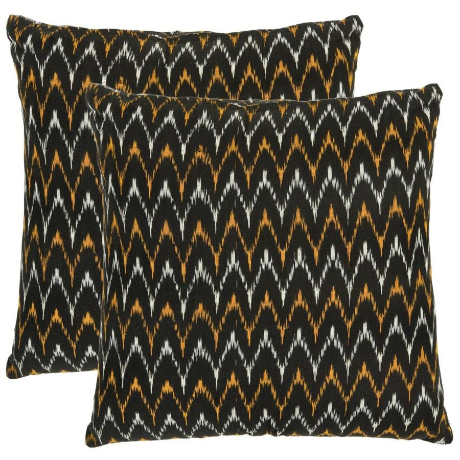 Safavieh Ryder 2-Piece 18-in W x 18-in L Black Square Indoor Decorative Pillow