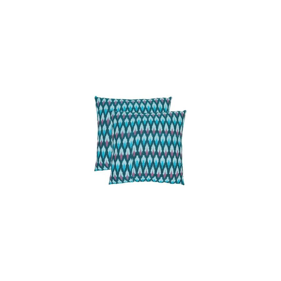 Safavieh 2-Piece 18-in W x 18-in L Blue Square Indoor Decorative Complete Pillows