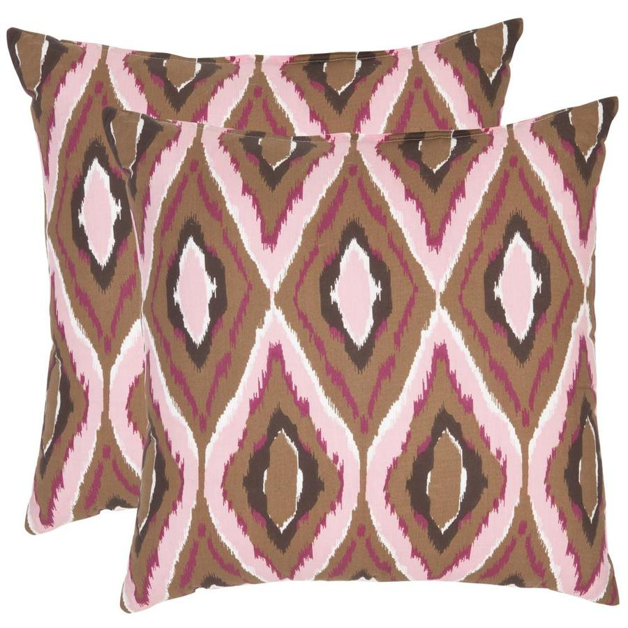 Safavieh Sophie 2-Piece 18-in W x 18-in L Pink Square Indoor Decorative Pillow