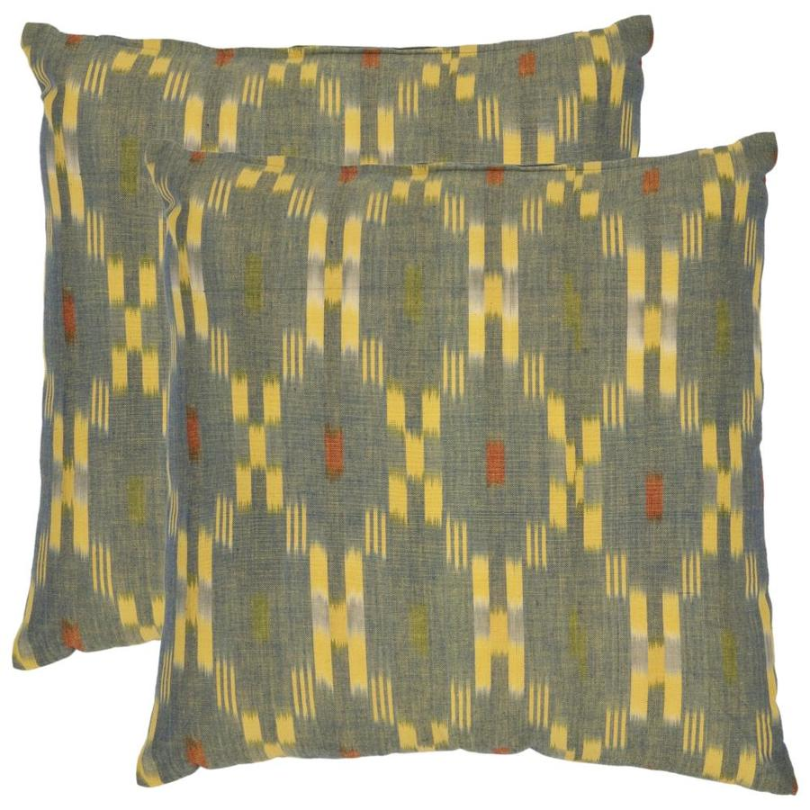 Safavieh Jay 2-Piece 22-in W x 22-in L Yellow Indoor Decorative Pillows