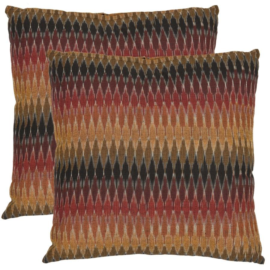 Safavieh Cascade 2-Piece 22-in W x 22-in L Rainbow Square Indoor Decorative Pillow