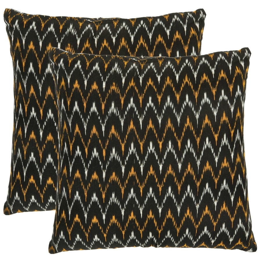 Safavieh Ryder 2-Piece 22-in W x 22-in L Black Square Indoor Decorative Pillow