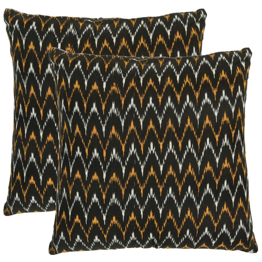 Safavieh Ryder 2-Piece 22-in W x 22-in L Black Indoor Decorative Pillow