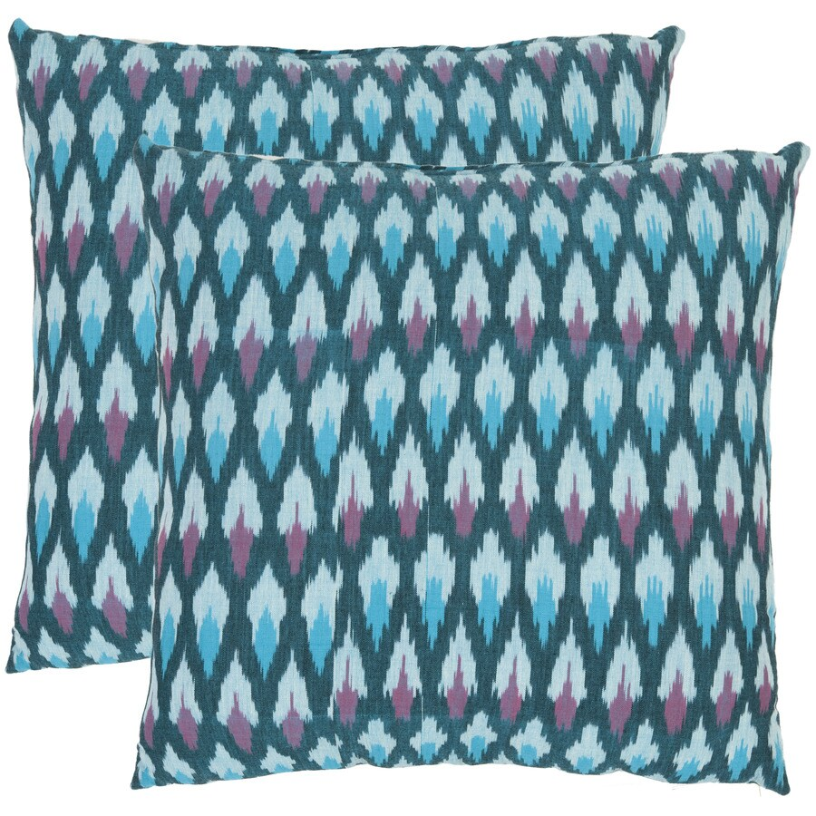 Safavieh Luca 2-Piece 22-in W x 22-in L Blue Square Indoor Decorative Pillow
