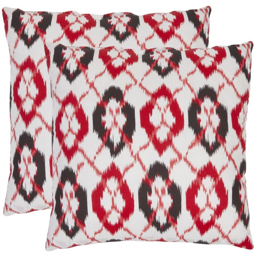 Safavieh Argyle 2-Piece 22-in W x 22-in L Red Square Indoor Decorative Pillow