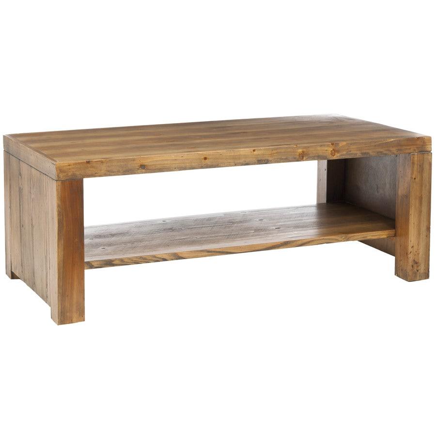 Safavieh Lahoma Brown Pine Fir Rectangular Coffee Table