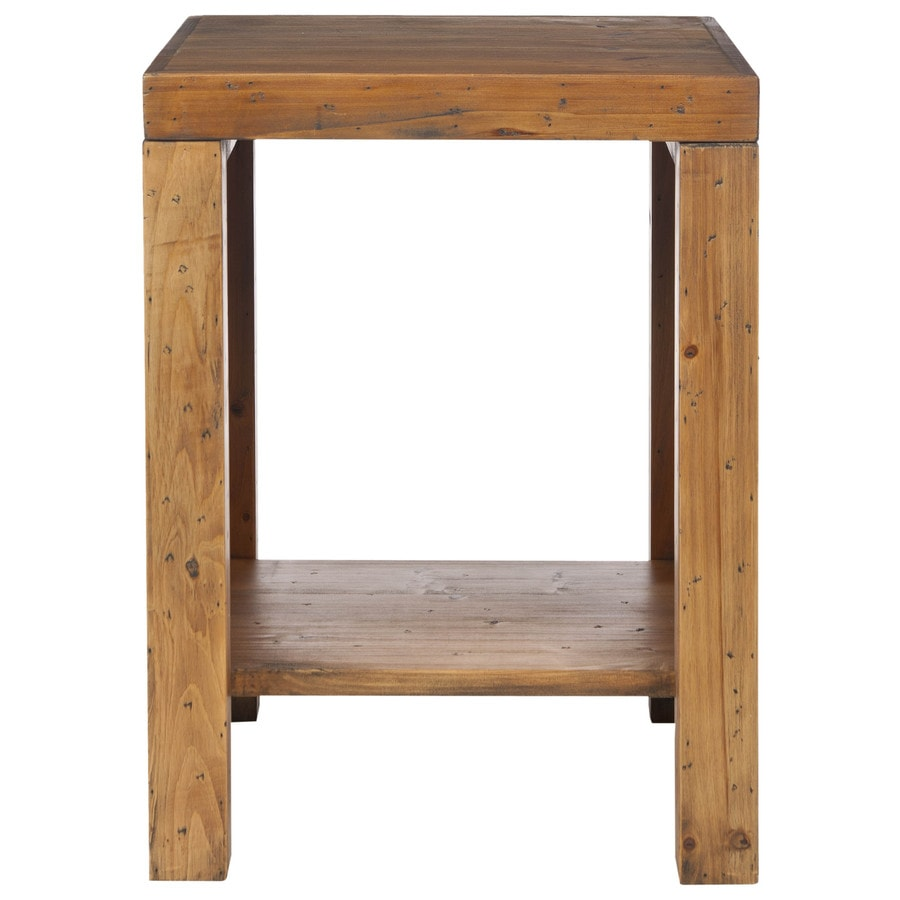 Safavieh American Home Medium Oak Fir Square End Table