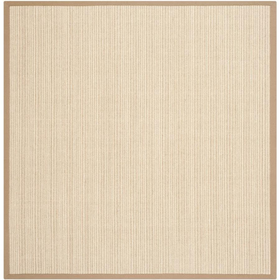 Safavieh Natural Fiber Groves Tan/Tan Square Indoor Machine-made Coastal Area Rug (Common: 6 x 6; Actual: 6-ft W x 6-ft L)