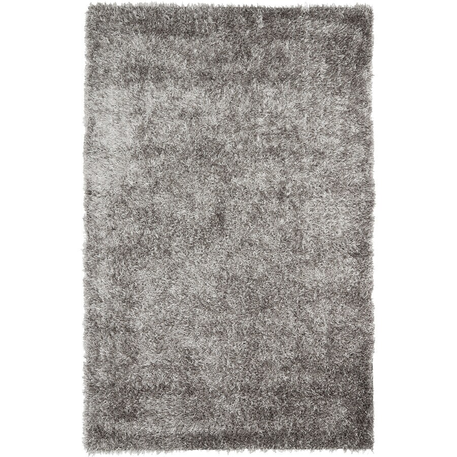 Safavieh New Orleans Shag Gray Handcrafted Area Rug (Common: 4 x 6; Actual: 4-ft W x 6-ft L)