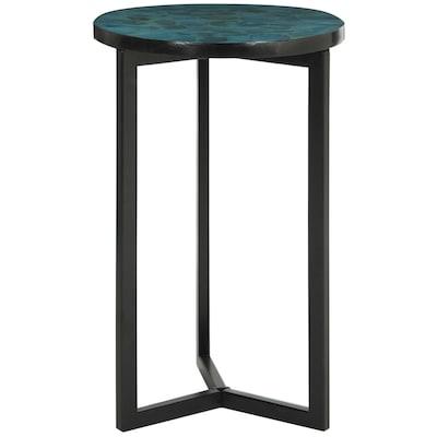 pretty nice 58b80 fea75 Zaira Turquoise Wood Casual End Table
