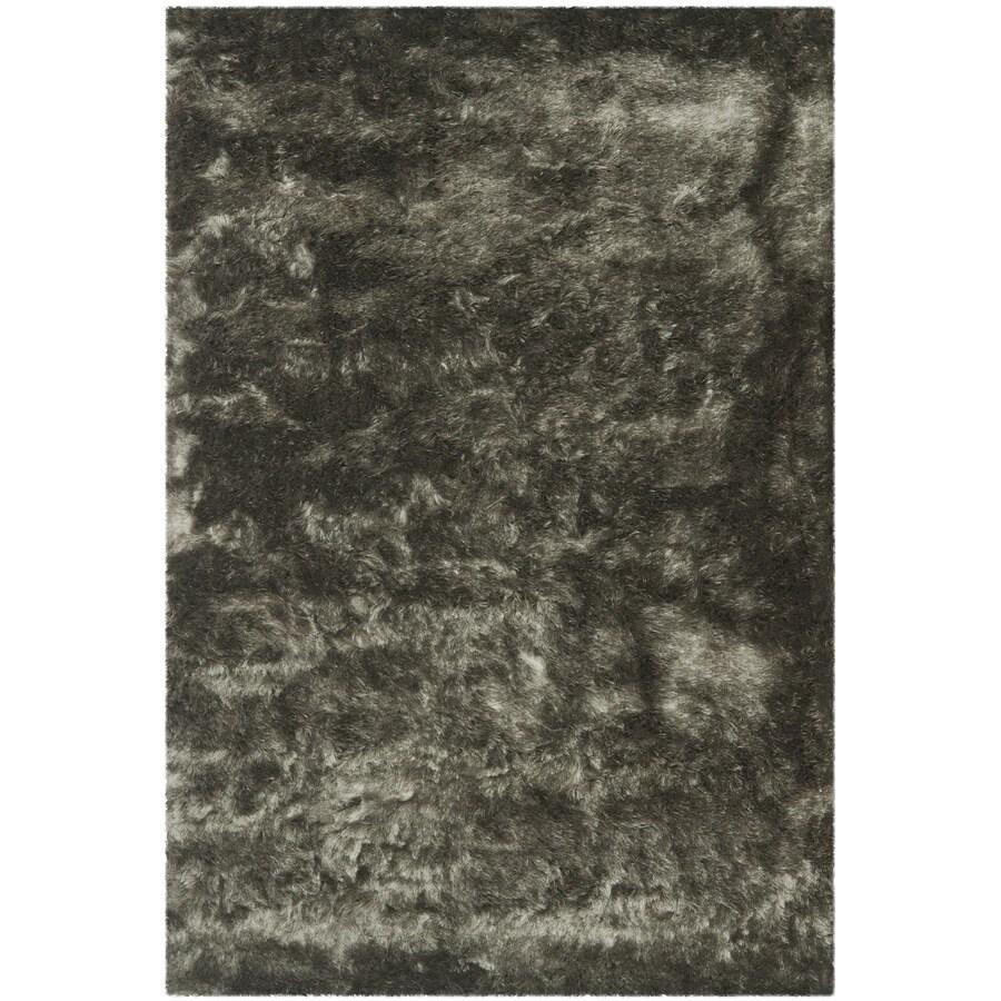 Safavieh Paris Shag Titanium Indoor Handcrafted Area Rug (Common: 5 x 7; Actual: 5-ft W x 7-ft L)