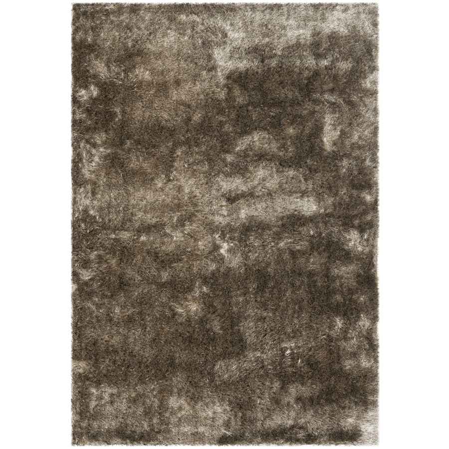 Safavieh Paris Shag Sable Indoor Handcrafted Area Rug (Common: 5 x 7; Actual: 5-ft W x 7-ft L)