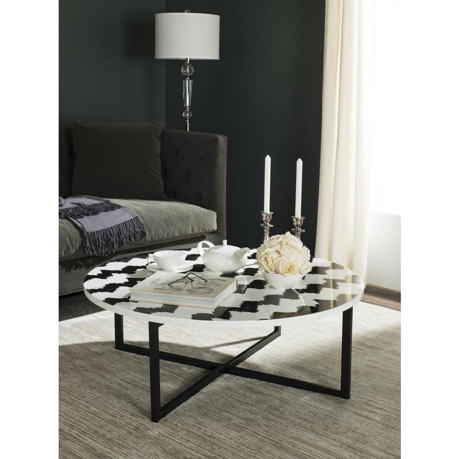 Safavieh Cheyenne Black/White Resin Round Coffee Table