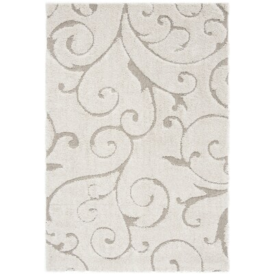 Safavieh Florida Scroll Shag 5 X 8 Cream Beige Indoor Floral Botanical Area Rug In The Rugs Department At Lowes Com
