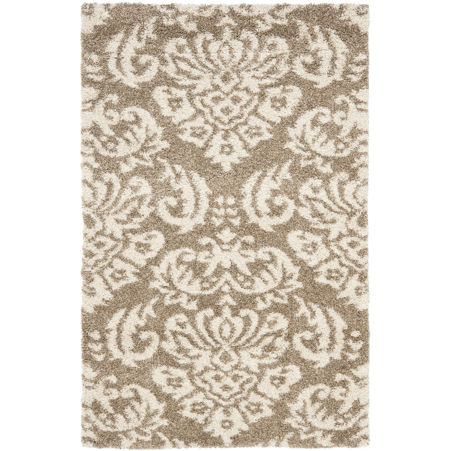 Safavieh Balin Shag Beige/Cream Indoor Tropical Area Rug (Common: 8 x 10; Actual: 8-ft W x 10-ft L)