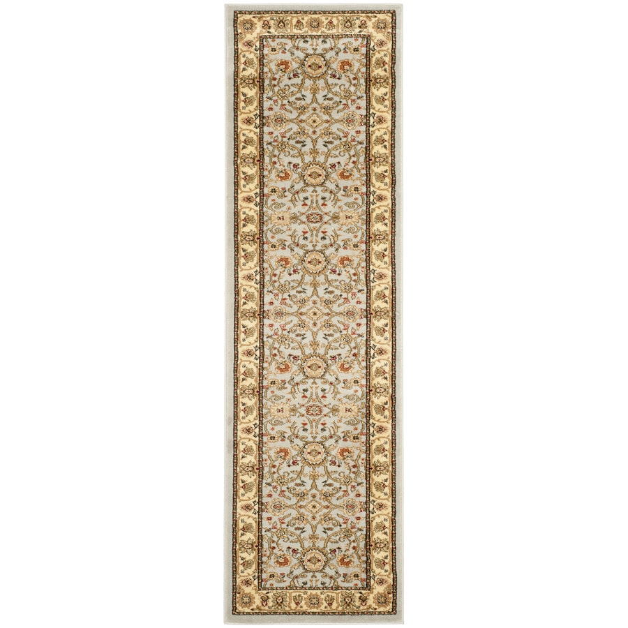 Safavieh Lyndhurst Gray/Beige Rectangular Indoor Machine-Made Oriental Runner (Common: 2 x 10; Actual: 2.25-ft W x 10-ft L)