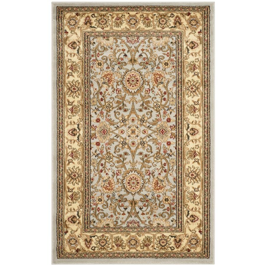 Safavieh Lyndhurst Sarouk Gray/Beige Rectangular Indoor Machine-made Oriental Throw Rug (Common: 2 x 4; Actual: 2.25-ft W x 4-ft L)