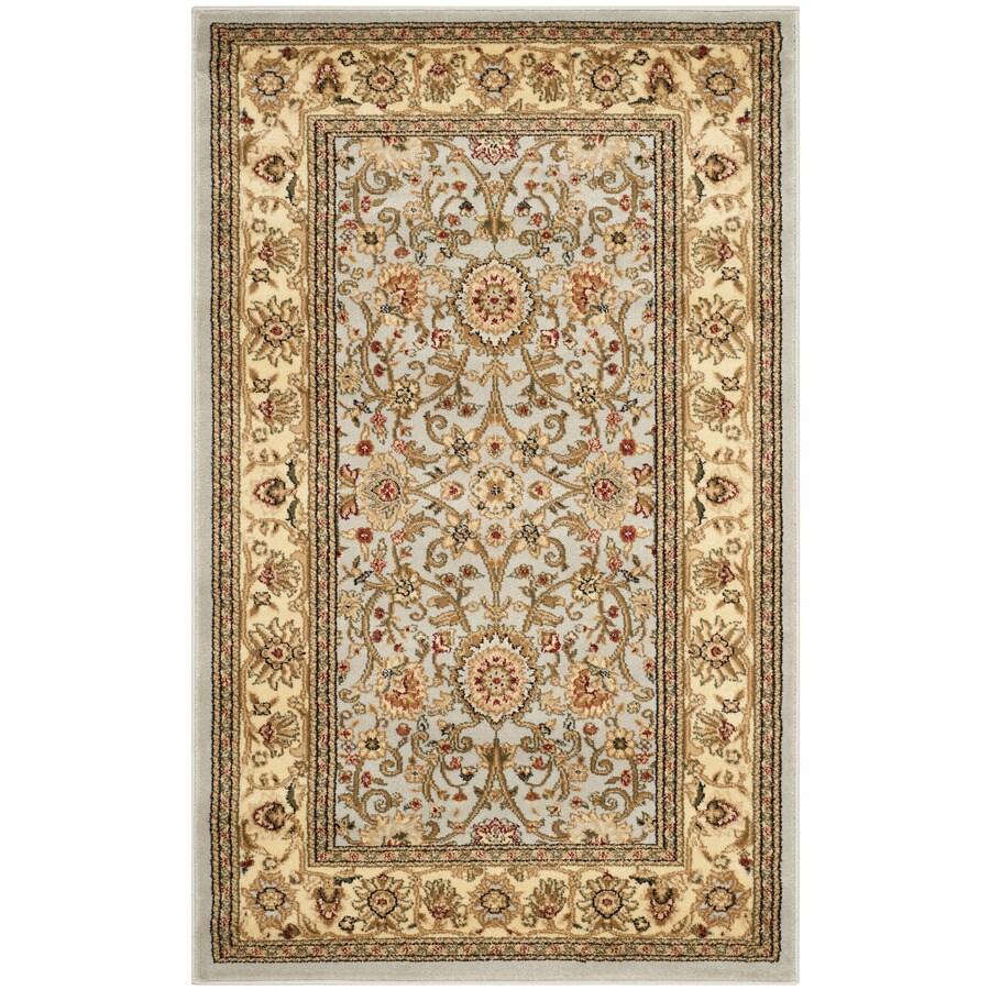 Safavieh Lyndhurst Sarouk Gray/Beige Indoor Oriental Throw Rug (Common: 3 x 5; Actual: 3.25-ft W x 5.25-ft L)