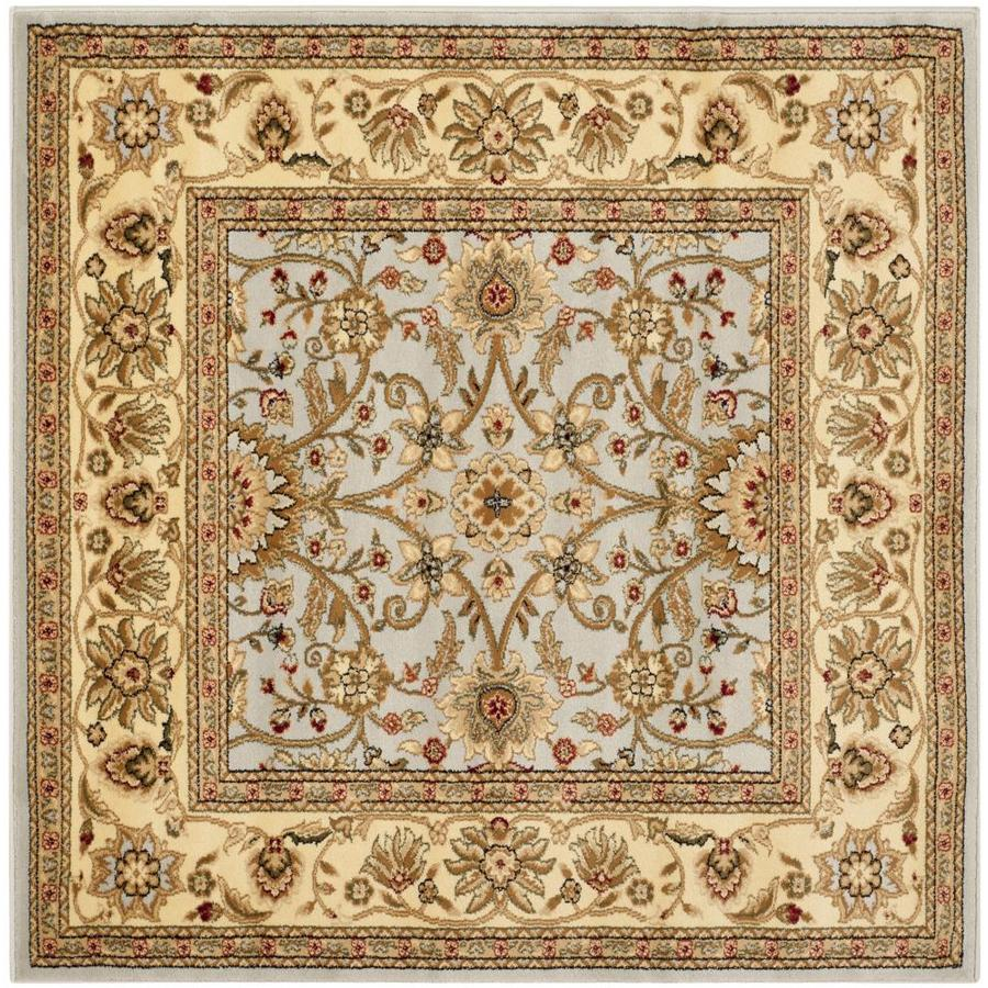 Safavieh Lyndhurst Sarouk Gray/Beige Square Indoor Machine-made Oriental Area Rug (Common: 5 x 5; Actual: 5-ft W x 5-ft L)