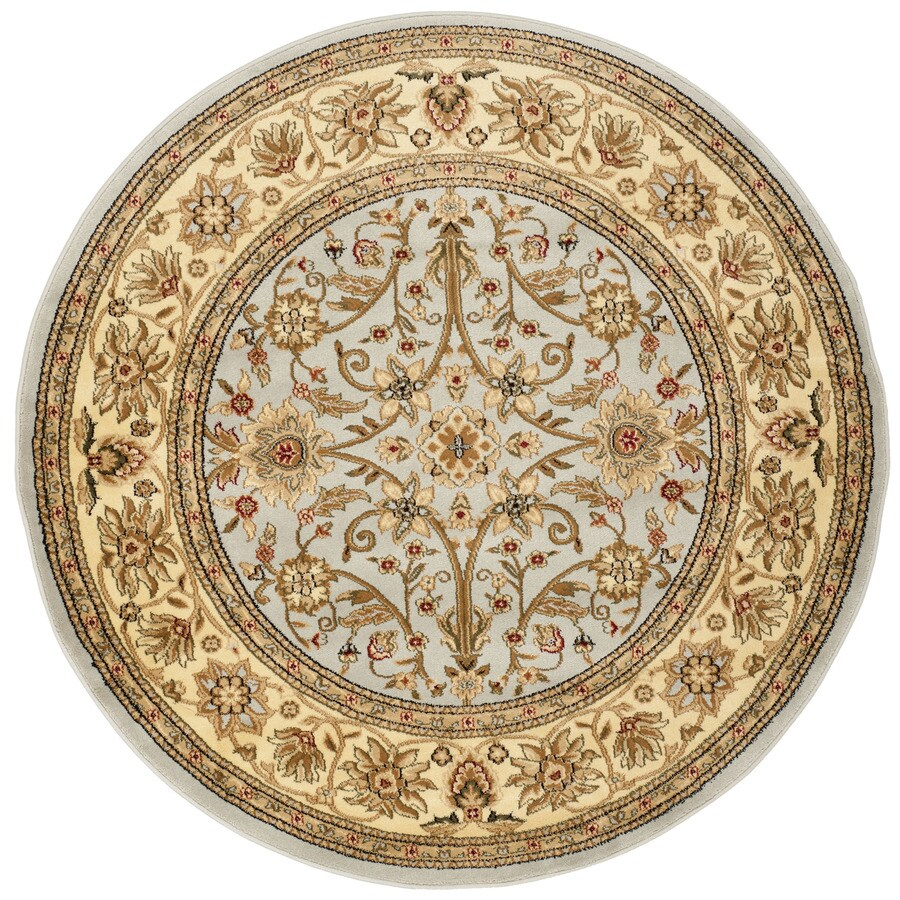 Safavieh Lyndhurst Sarouk Gray/Beige Round Indoor Machine-made Oriental Area Rug (Common: 5 x 5; Actual: 5.25-ft W x 5.25-ft L x 5.25-ft Dia)